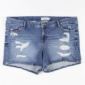Torrid Women's Distressed Denim Jean Shorts 24